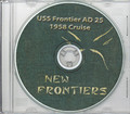 USS Frontier AD 25 WestPac CRUISE BOOK Log 1958 CD