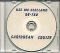 USS McClelland DE 750 1953 Carribean Cruise Book CD