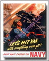 US Navy  Let's Hit Em with Everything Canvas Print 2D
