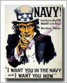 US Navy I Want you in the Navy Now Canvas Print 2D