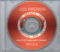 USS Arcadia AD 23 1953 1954 Med Cruise Book on CD RARE