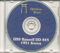 USS Bausell DD 845 CRUISE BOOK Log Korea 1951 CD