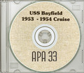 USS Bayfield APA 33 1953 1954 Cruise Book CD RARE