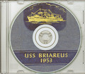 USS Briareus AR 12 1952 1953 Cruise Book on CD RARE