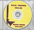 USS Tarawa CVA 40 1953 - 1954 CRUISE BOOK CD US Navy