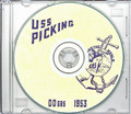 USS Picking DD 685 1953 World Cruise Book on CD RARE