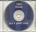 USS Point Cruz CVE 119 CRUISE BOOK Log Korea 1953 CD