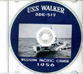 USS Walker DDE 517 1956 Westpac Cruise Book CD RARE