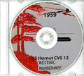 USS Hornet CVS 12 1959 Westpac CRUISE BOOK Log CD
