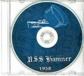 USS Hamner DD 718 CRUISE BOOK Log 1957 -  1958 CD