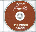 USS Hopewell DD 681 1955 CRUISE BOOK Log CD