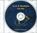USS Marsh DE 699 1952 Far East CRUISE BOOK Log CD