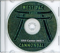 USS Castor AKS 1 CRUISE BOOK Log Westpac 1965 - 1966 crew photos CD Vietnam