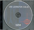 USS Lexington CVA 16 1958 Westpac Cruise Book on CD RARE