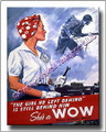 Military WWII Canvas Poster Print Woman Ordnance 2D