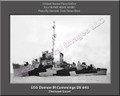 USS Damon M Cummings DE 643 Personalized Ship Canvas Print Photo US Navy Veteran Gift