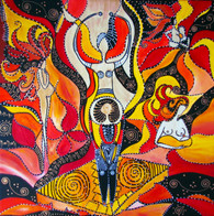 "Fertility - CONTEMPORARY ORIGINAL ACRYLIC ""S"" PAINTING ON CANVAS"