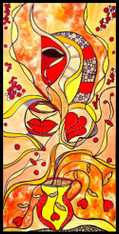 """""""Blooming Hope"""" - CONTEMPORARY ORIGINAL ACRYLIC PAINTING ON CANVAS"""
