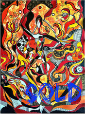 """""""Erato: The Muse of Love Poetry"""" CONTEMPORARY ORIGINAL ACRYLIC PAINTING ON CANVAS"""