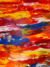 ABSTRACT 349 CONTEMPORARY ORIGINAL ACRYLIC PAINTING ON CANVAS