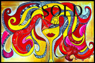 """""""The Fire"""" Contemporary Original Acrylic Painting on Canvas"""