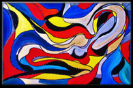 """""""In Dream """" Contemporary  Original Acrylic Painting on Canvas"""