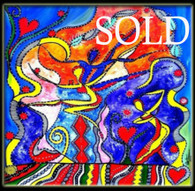 """Harvest of Soul II"" CONTEMPORARY ORIGINAL ACRYLIC PAINTING ON CANVAS"