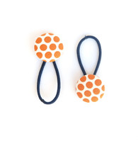 Dotty Hair Elastic in Orange