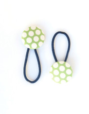 Dotty Hair Elastic in Green