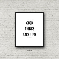 TDP036 Good Things Take Time