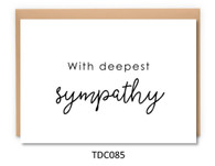 TDC085 - With deepest sympathy