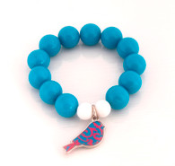 Teesh Bird Charm Bracelet - Blue
