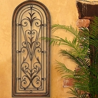 grilles metal wall art - Tuscan Wall Decor