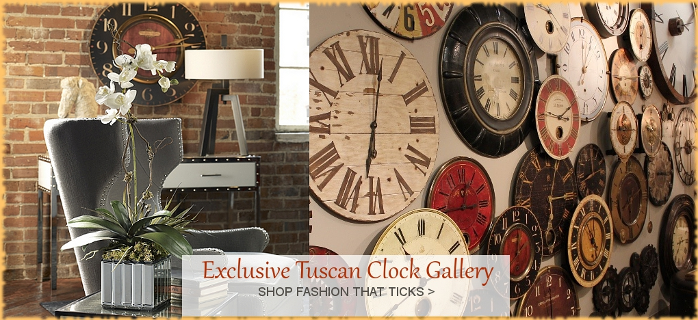 Tuscan And Mediterranean Clocks Bellasoleil Com Since 1996 Free Shipping