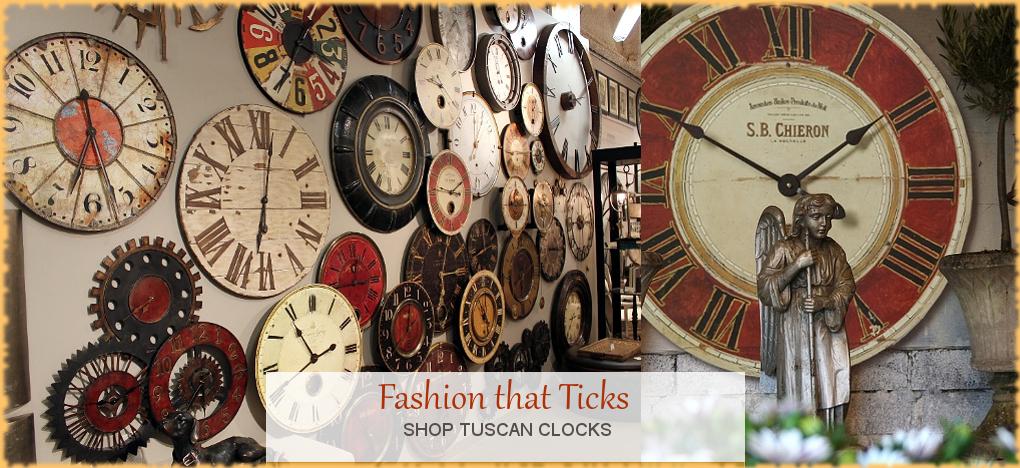 Tuscan, Mediterranean Style Wall Clocks, FREE Shipping, No Sales Tax | BellaSoleil.com Tuscan Decor Since 1996