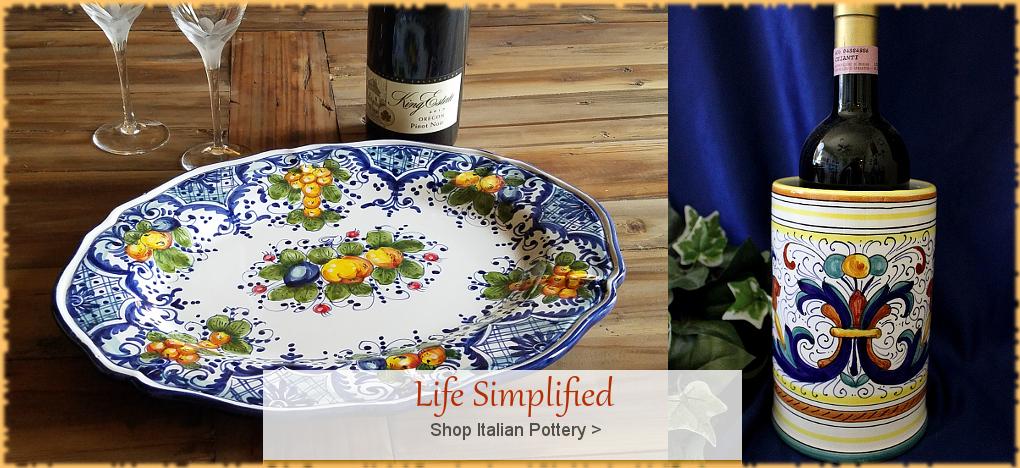 Italian Pottery, Italian Ceramics, FREE Shipping, No Sales Tax | BellaSoleil.com Tuscan Decor Since 1996