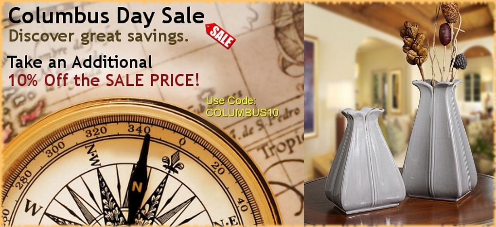 European Inspired Decor Columbs Day Sale | BellaSoleil.com