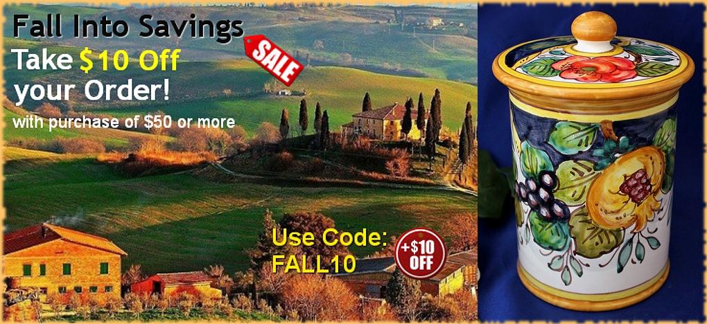 Tuscan Decor & Italian Pottery Sale   BellaSoleil.com Since 1996