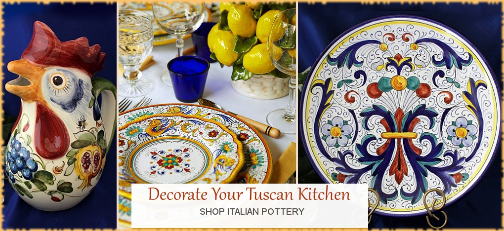 Italian Pottery and Italian Ceramics as discount prices | BellaSoleil.com Tuscan Decor Since 1996