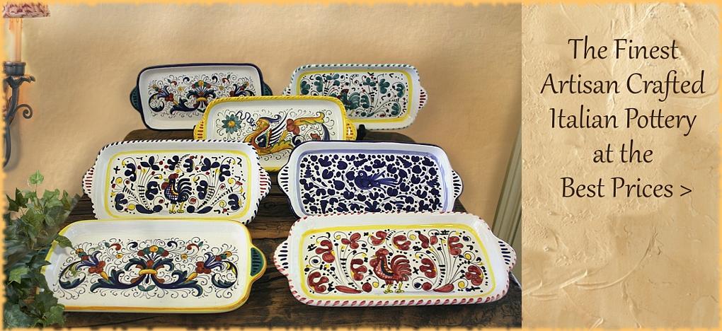 BellaSoleil.com Italian Pottery   Free Shipping, No Sales Tax