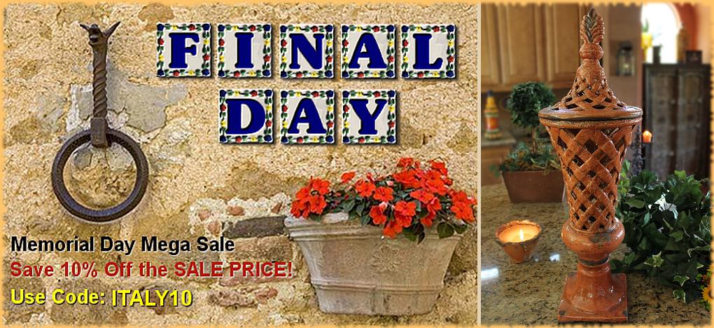 BellaSoleil.com Tuscan Decor Memorial Day Sale