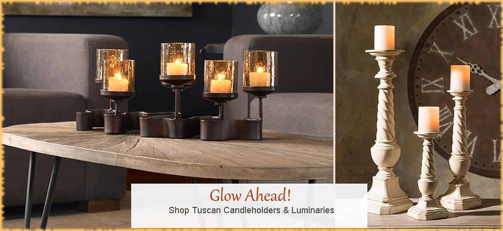 BellaSoleil.com Tuscan Candle Holders and Tuscan Home Decor | Free Shipping, No Sales Tax
