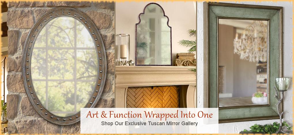 BellaSoleil.com Tuscan Mirrors, Tuscan Home Decor   Free Shipping, No Sales Tax