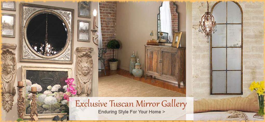 Tuscan and Mediterranean Mirror Gallery | BellaSoleil.com