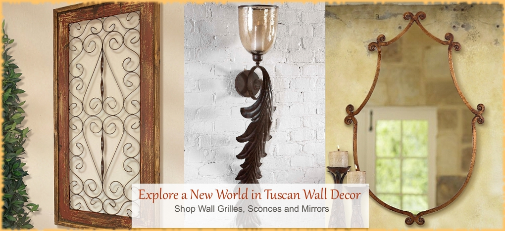 Tuscan Wall Decor Mediterranean Wall Grilles | BellaSoleil.com Tuscan Decor Since 1996