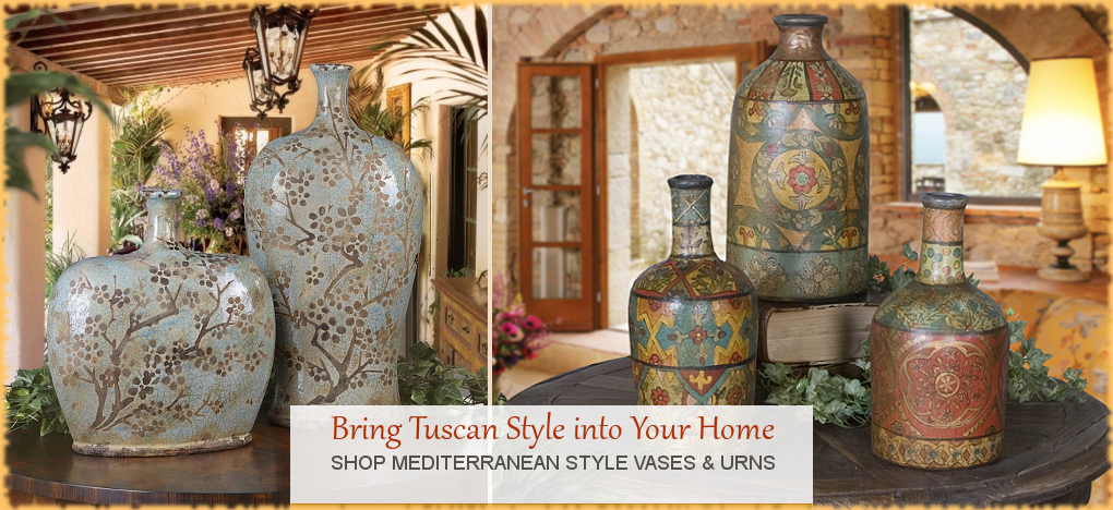 Tuscan, Mediterranean Style Home Decor, FREE Shipping, No Sales Tax | BellaSoleil.com Tuscan Decor Since 1996