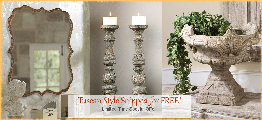 Tuscan Decor Italian Pottery FREE SHIPPING | BellaSoleil.com Since 1996