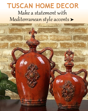 Tuscan Home Decor Bellasoleil Com Tuscan Decor And Italian Pottery