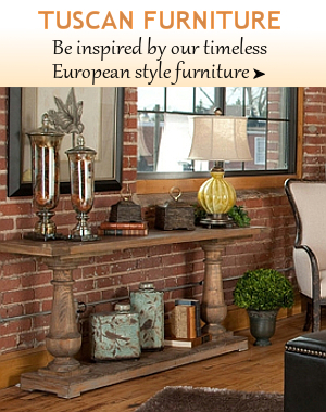 Tuscan Furniture | BellaSoleil.com Tuscan Decor and Italian Pottery