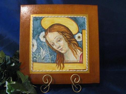 Madonna Child Italian Tile